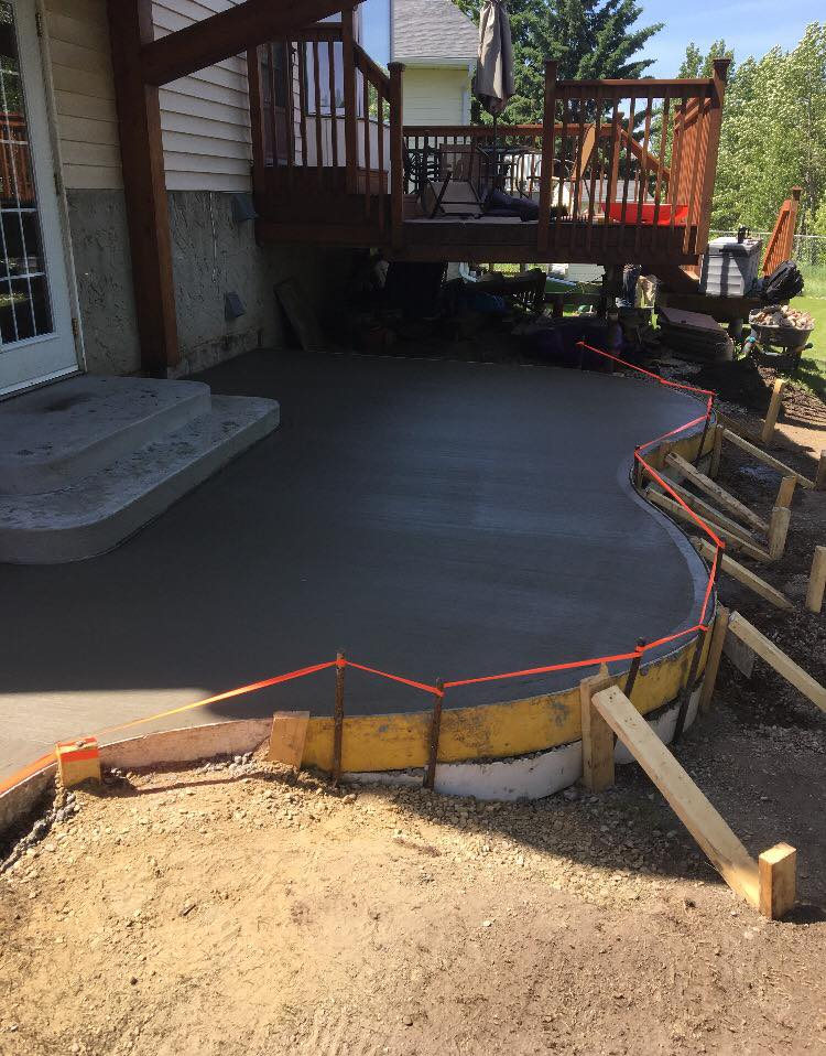 Concrete Step and Pad