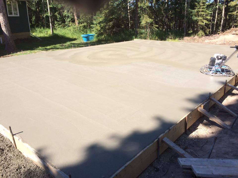 Concrete pad, Prepping for slab and grade with thickened edges After
